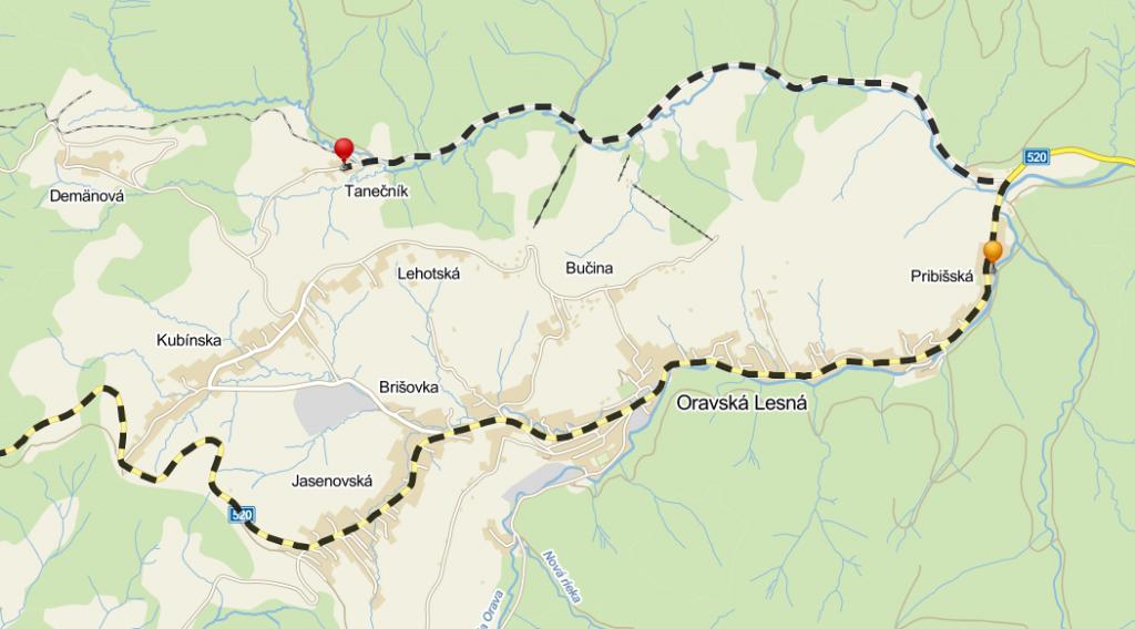 Tábor 2014 - mapka